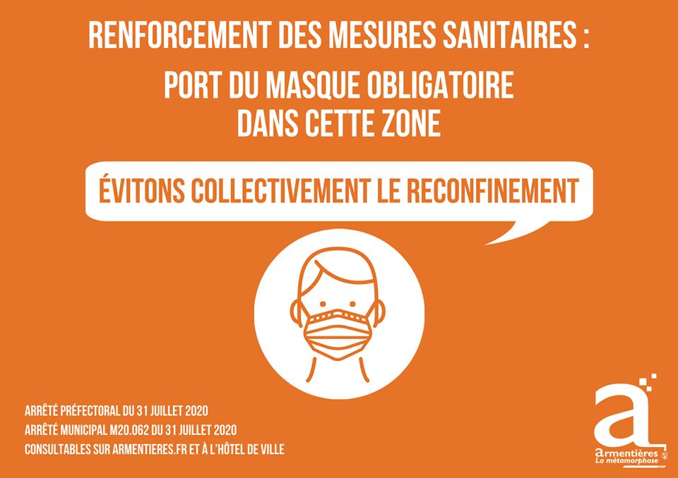 port du masque obligatoire dans les rues d'Armentières (1)