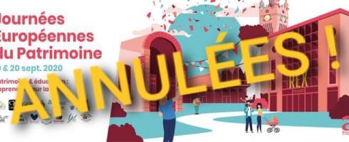 Les «Journées Européennes du Patrimoine» 2020 a Armentières sont annulées.